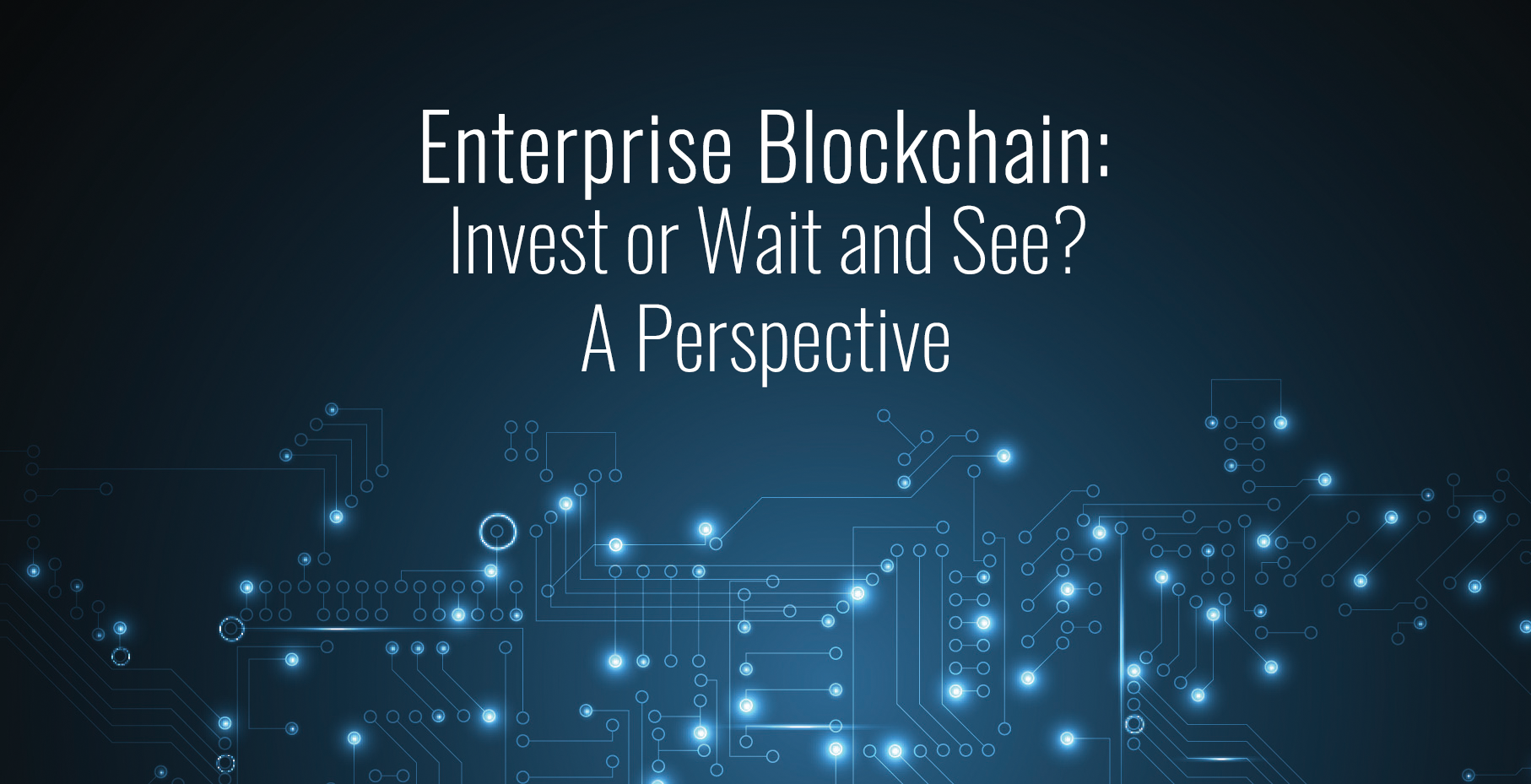 Enterprise Blockchain: Invest or Wait and See? A Perspective.