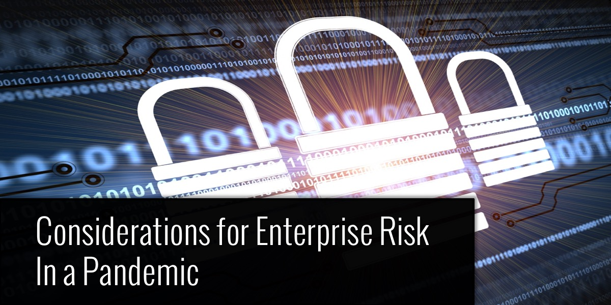 Considerations for Enterprise Risk in a Pandemic