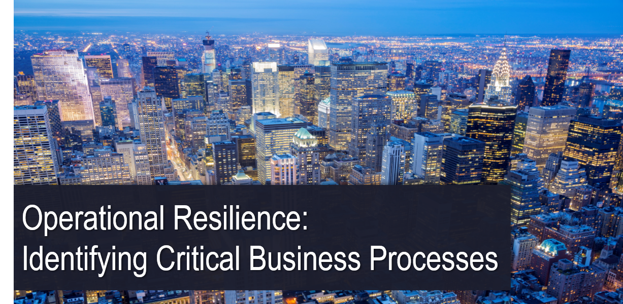 Operational Resilience: Identifying Critical Business Processes
